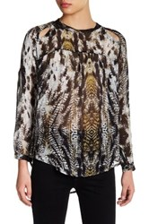 Candc California Sage Long Sleeve Blouse Multi