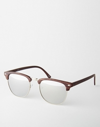 Asos Clubmaster Sunglasses Brown