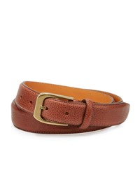 The British Belt Co Coberley Leather Medium Beige