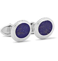 Dunhill Sterling Silver Lapis Cufflinks