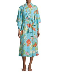 Natori Peranakan Floral Print Long Robe Multi Colors