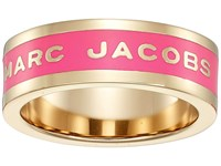 Marc Jacobs Band Logo Disc Ring Neon Pink Ring