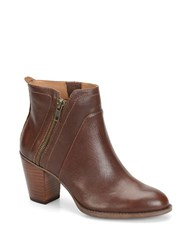 Sofft West Leather Ankle Boots Brown