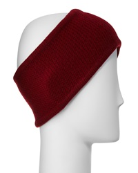 Portolano Cashmere Honeycomb Headband Ashton Red