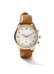 Topman Tan And Gold Look Leather Watch Brown
