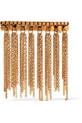 Erickson Beamon Barrette Fringed Gold Plated Hairclip