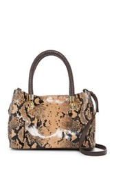 Cole Haan Benson Snake Embossed Leather Small Crossbody Tote Multi
