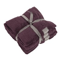 Gant Premium Terry Face Towel Set Of 4 Purple Fig