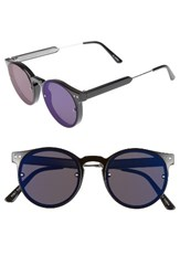 Spitfire Women's Post Punk 48Mm Round Mirrored Lens Sunglasses