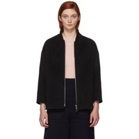 Herno Black Insulated Wool And Silk Jacket