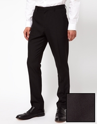 Asos Slim Fit Tuxedo Suit Pants Black