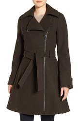 Catherine Malandrino Women's Water Resistant Fit And Flare Coat