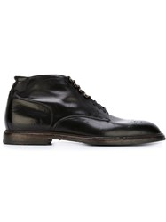Dolce And Gabbana Brogue Detail Ankle Boots Black