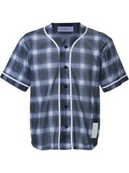 Phenomenon Checked Baseball Shirt Grey