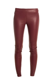 Vince Leather Leggings Red