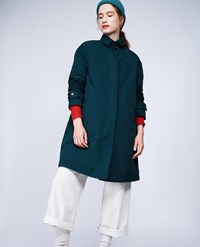 Aspesi Garment Dyed Nylon Coat Paprica Green