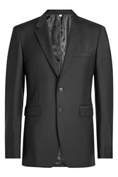 Burberry London Wool Blazer With Mohair Black