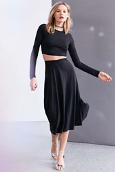 Silence And Noise Slinky Long Sleeve Two Piece Dress Black