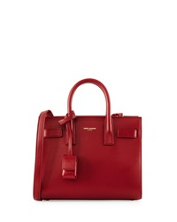 Sac De Jour Nano Leather Crossbody Bag Bordeaux Saint Laurent