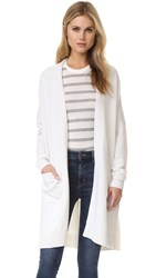 Vince Side Slit Cardigan Off White