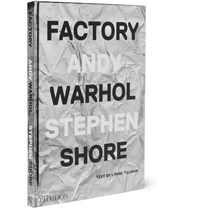 Phaidon Factory Andy Warhol Stephen Shore Hardcover Book Black