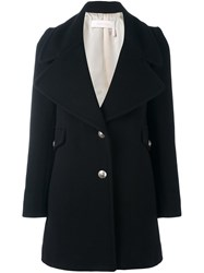 See By Chloe Button Front Short Coat Black