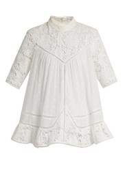 Zimmermann Caravan Embroidered Cotton Top Ivory