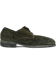 Guidi Lace Up Derby Shoes Green