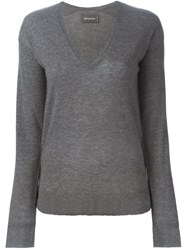 Zadig And Voltaire V Neck Sweater Grey