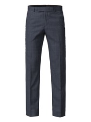 Aston And Gunn Avalon Blue Check Trouser Blue