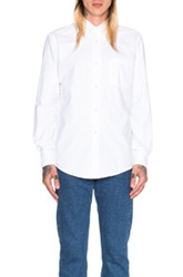 Our Legacy Heavy Oxford Button Down In White