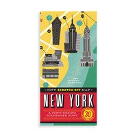 Chronicle Books City Scratch Off Map New York