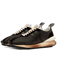 Lanvin Leather Running Sneaker Black