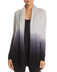 Bloomingdale's C By Dip Dye Cashmere Cardigan 100 Exclusive Light Grey Black Dip Dye