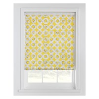 Habitat Evelyn Yellow Patterned Roller Blind 122 X 160Cm Saffron Yellow