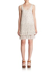 See By Chloe Pleated Georgette Dress Off White