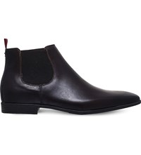 Kg By Kurt Geiger Waldock Leather Chelsea Boots Wine