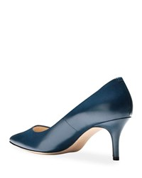 Cole Haan Vesta Grand Leather Point Toe Pumps Marine Blue