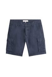 Orlebar Brown Cotton Linen Cargo Shorts Blue