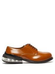 Maison Martin Margiela Bounce Heel Leather Derby Shoes Brown