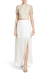 Ali And Jay Women's Embroidered Two Piece Gown