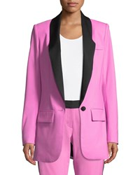 Diane Von Furstenberg Tommy Crepe Single Button Jacket Pink