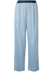 Astraet Side Stripe Straight Trousers Blue