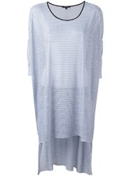 Unconditional Striped High Low Hem Tunic Blue