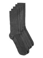 Topman Grey Mixed Texture Socks 5 Pack