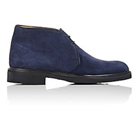 Barneys New York Men's Suede Chukka Boots Navy Size 6 M