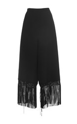 Andrew Gn High Waisted Fringe Trousers Black