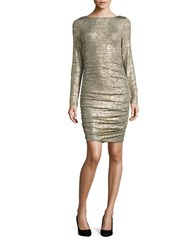 Vince Camuto Long Sleeved Bodycon Dress Taupe