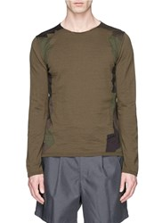 Comme Des Garcons Camouflage Patchwork Sweater Green