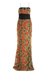 Marchesa Poppy Embroidered Gown